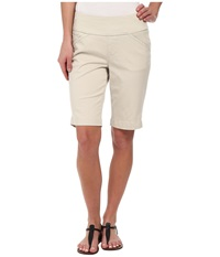 Jag Jeans Ainsley Bermuda Classic Fit Bay Twill Stone Women's Shorts White