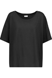 Vince Slub Pima Cotton T Shirt Black