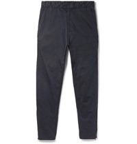 Rag And Bone Corbin Tapered Stretch Cotton Cargo Trousers Navy