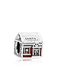 Pandora Design Charm Sterling Silver And Red Enamel Santa's Home Moments Collection
