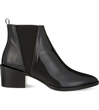 Whistles Belmont Patent Leather Chelsea Boots Black
