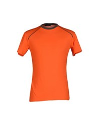 Aquascutum London Aquascutum Topwear T Shirts Men Orange