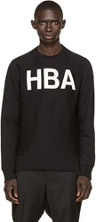 Hood By Air Black French Terry Rehab Pullover