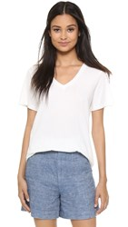 Vince Relaxed V Neck T Shirt Off White