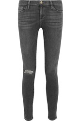 Frame Le Skinny De Jeanne Mid Rise Jeans Charcoal