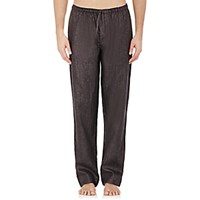 Zimmerli Men's Linen Pants Dark Grey