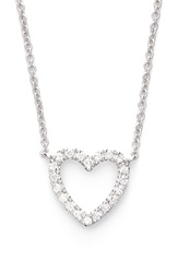 Bony Levy Diamond Heart Pendant Necklace Limited Edition Nordstrom Exclusive White Gold