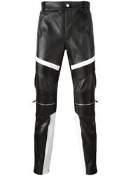 Les Hommes Urban Ribbed Zipped Detailing Trousers Black