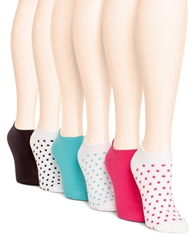 Hue Cotton Blend Peds Socks Six Pack