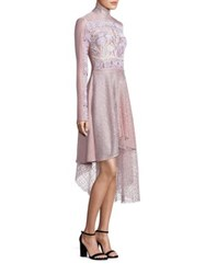 Peter Pilotto Asymmetrical Jersey And Lace Embellished Dress Pink