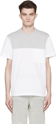Tim Coppens White And Grey Crewneck T Shirt