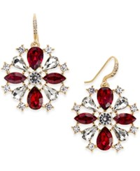 Charter Club Crystal Pinwheel Earrings Only At Macy's Red