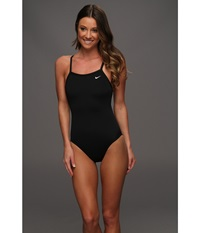 Nike Solid Poly Lingerie Tank One Piece Black Women's Swimsuits One Piece