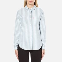 Levi's Women's Good Workwear Boyfriend Shirt Verbena Indigo