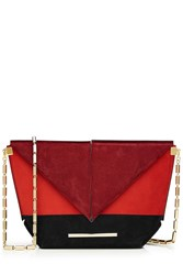 Roland Mouret Suede Shoulder Bag Multicolor