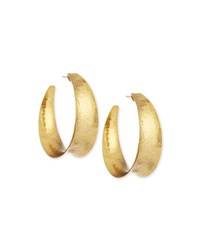 Hammered Brass Graduated Hoop Earrings Nest Jewelry Bronze