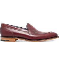 Barker Austin Leather Loafers Red