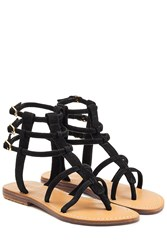 Mystique Suede Sandals Black