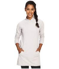 Lole Evelina Tunic Micro Chip Heather Women's Long Sleeve Pullover White
