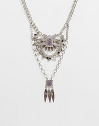 Oasis Statement Festival Necklace Rhodium Silver