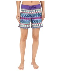 Prana Makenna Board Short Aquabloom Women's Swimwear Multi
