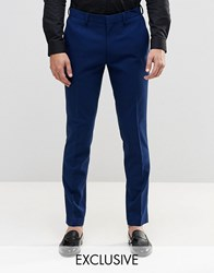 Only And Sons Slim Trousers With Stretch Blue