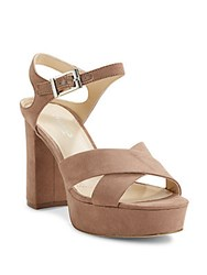 Charles By Charles David Crisscross Microsuede Slingback Sandals Dark Taupe