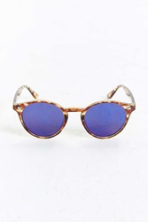 Urban Outfitters Flat Plastic Round Sunglasses Brown