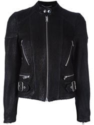 Diesel Banded Collar Jacket Black