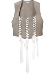Tome Felt Tie Waistcoat Nude And Neutrals