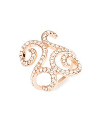 Michela Pave Scroll Ring Rose Gold
