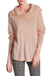 Joie Wesley Cowl Neck Pullover Sweater Pink