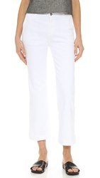 Ag Jeans The Layla Crop Flare Trouser Jeans White