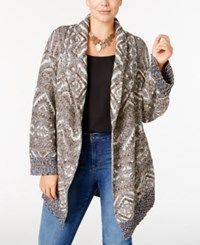 Styleandco. Style Co. Plus Size Patterned Open Duster Cardigan Only At Macy's Neutral Combo