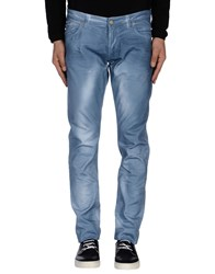 Paolo Pecora Trousers Casual Trousers Men Slate Blue