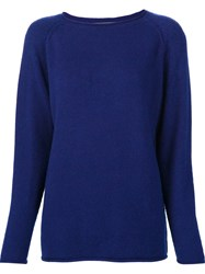 The Elder Statesman 'Heavy Roll' Jumper Blue