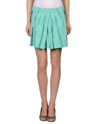 Pringle Of Scotland Mini Skirts Turquoise