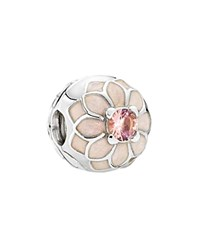 Pandora Design Pandora Clip Sterling Silver Cubic Zirconia And Enamel Blooming Dahlia Moments Collection Pink