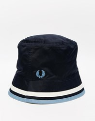 Fred Perry Reversible Bucket Hat Blue