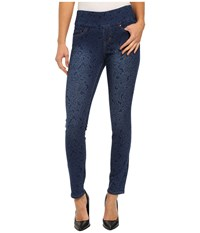 Jag Jeans Lanna Pull On Slim Patterned Denim In Paisley Indigo Paisley Indigo Women's Jeans Blue