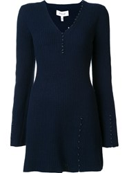 Derek Lam 10 Crosby V Neck Jumper Blue