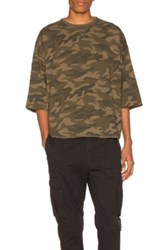 Stampd Washed Oversize Tee In Green Abstract Green Abstract