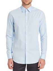 Paul Smith Slim Fit Solid Dress Shirt Light Blue White