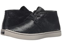 Hush Puppies Cille Gwen Black Crackled Suede Women's Slip On Shoes