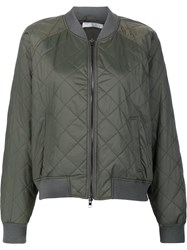 Vince Quilted Bomber Jacket Green