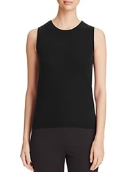 Bloomingdale's C By Sleeveless Cashmere Sweater Black