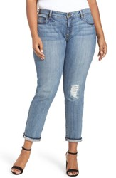 Kut From The Kloth Plus Size Women's Distressed Slim Boyfriend Jeans