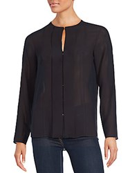 Hugo Boss Sheer Long Sleeve Top Navy