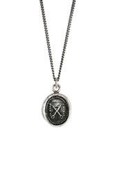 Pyrrha 'Scissors' Talisman Pendant Necklace Silver
