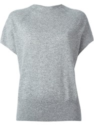 Vince Knitted T Shirt Grey